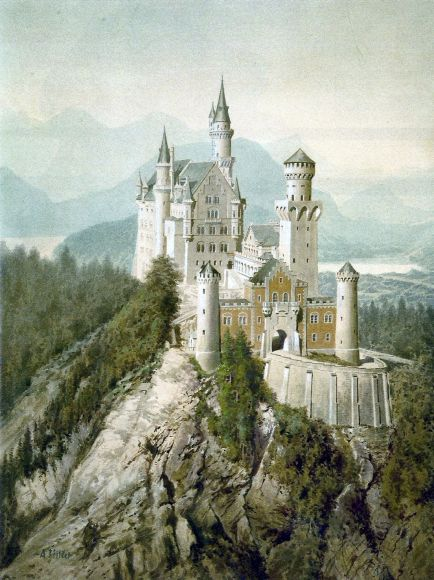 AuthenticHitlerWaterColorCastle-01